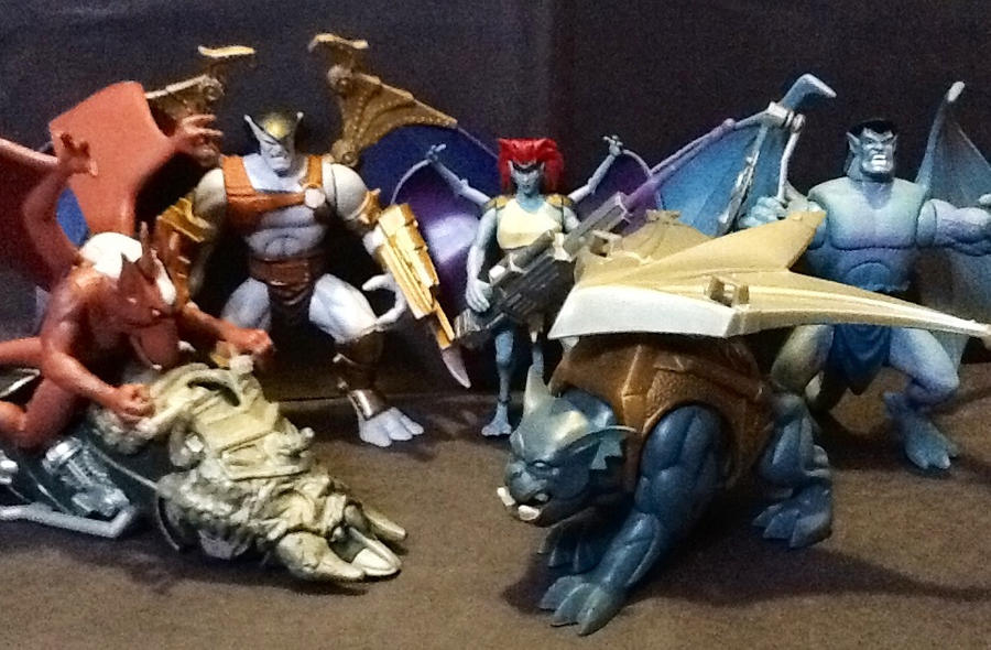 Les jouets de votre enfance Gargoyles_action_figure_collection_by_necrodemonlord-d5qgga8