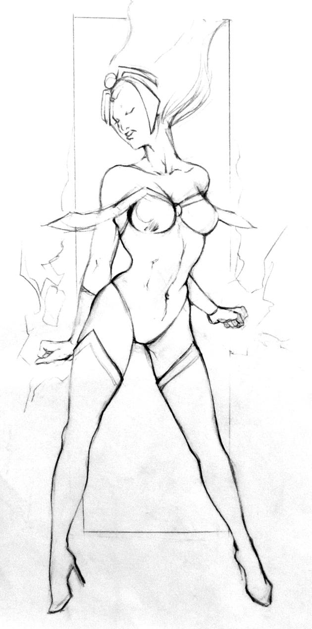 Sketch_Storm_X-men_01 by ValeLuche
