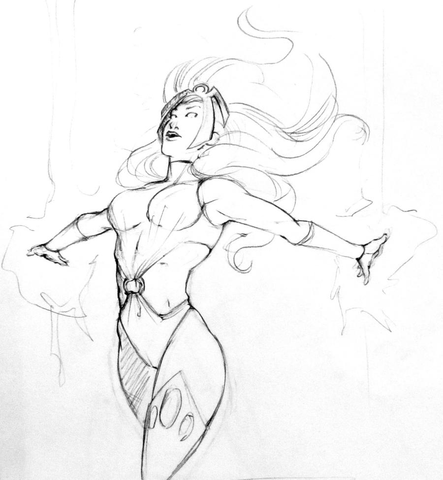 Sketch_Storm_X-men_03 by ValeLuche
