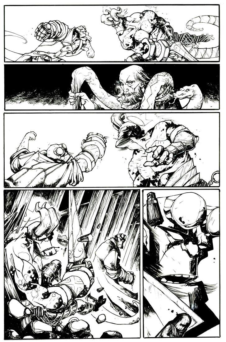 Sample_Hellboy_ink_02 by ValeLuche