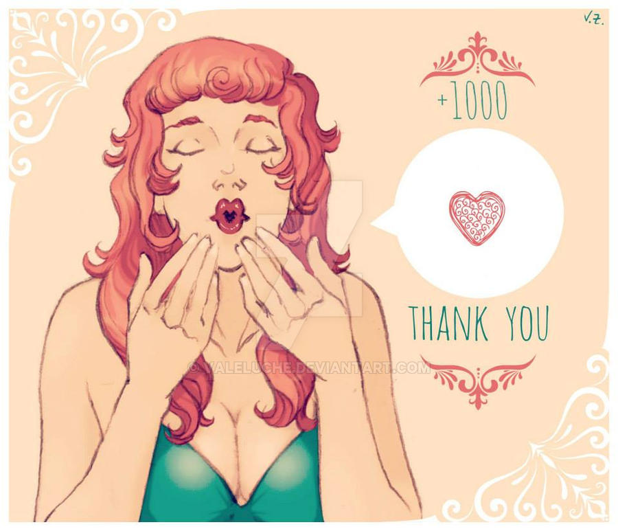 Thank . y o u . +1000 by ValeLuche