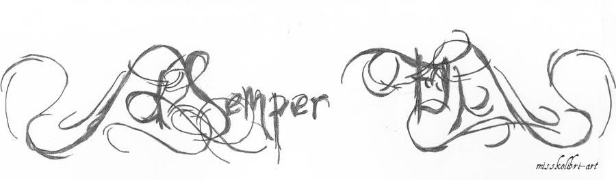 Tattoo design semper fi