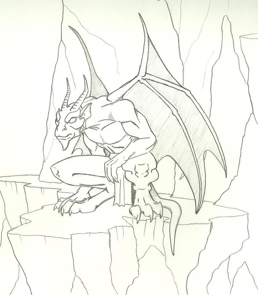 Perched Gargoyle By Averyarts On DeviantArt