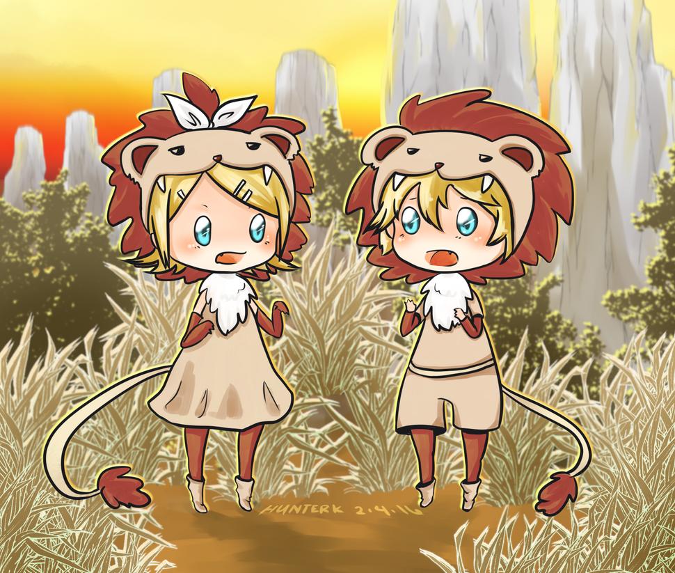 [VOCALOID] Len and Rin - I'm a Lion by HunterK