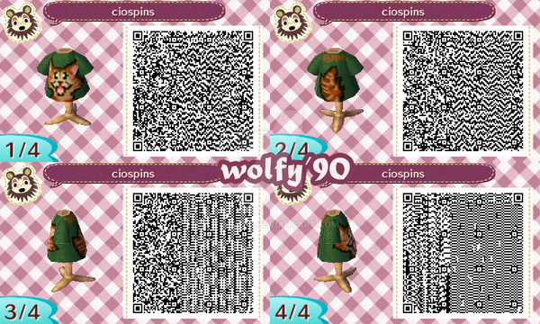 Animal Crossing New Leaf Shirt Pattern Qr Code By Wolfy90 On
