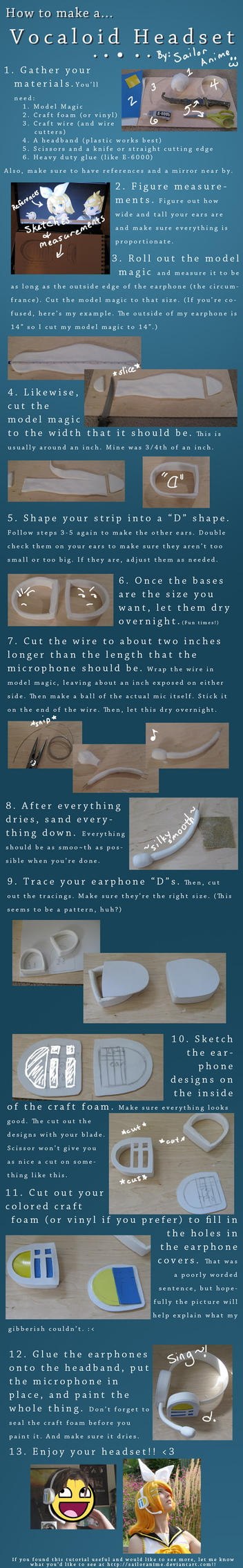 Vocaloid Headset Tutorial by SailorAnime