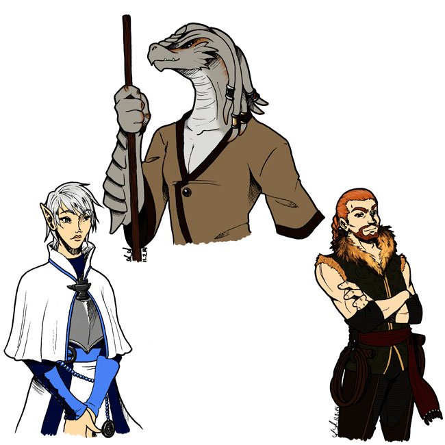 DandD - Version 5 Characters by SailorAnime