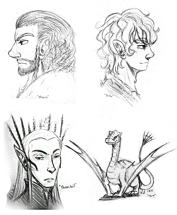 Hobbit Sketches by SailorAnime