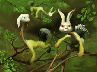 Bunnymonkeyostrich by EthicallyChallenged