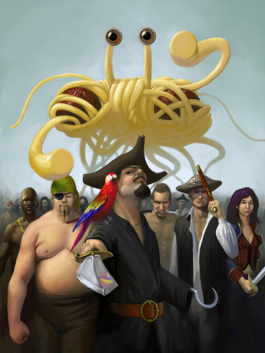 The Flying Spaghetti Monster by EthicallyChallenged