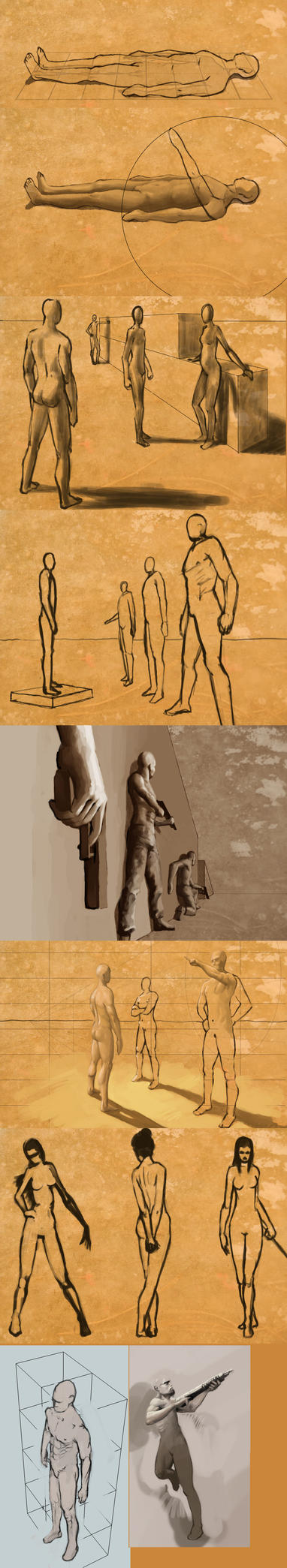 figure studies by EthicallyChallenged