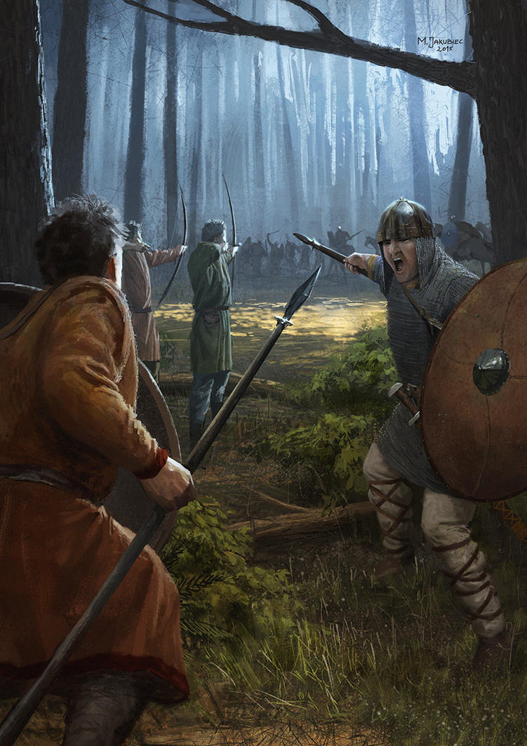 Вдохновляющие картинки Carolingian_forest_melee_by_ethicallychallenged-d8qmvgc