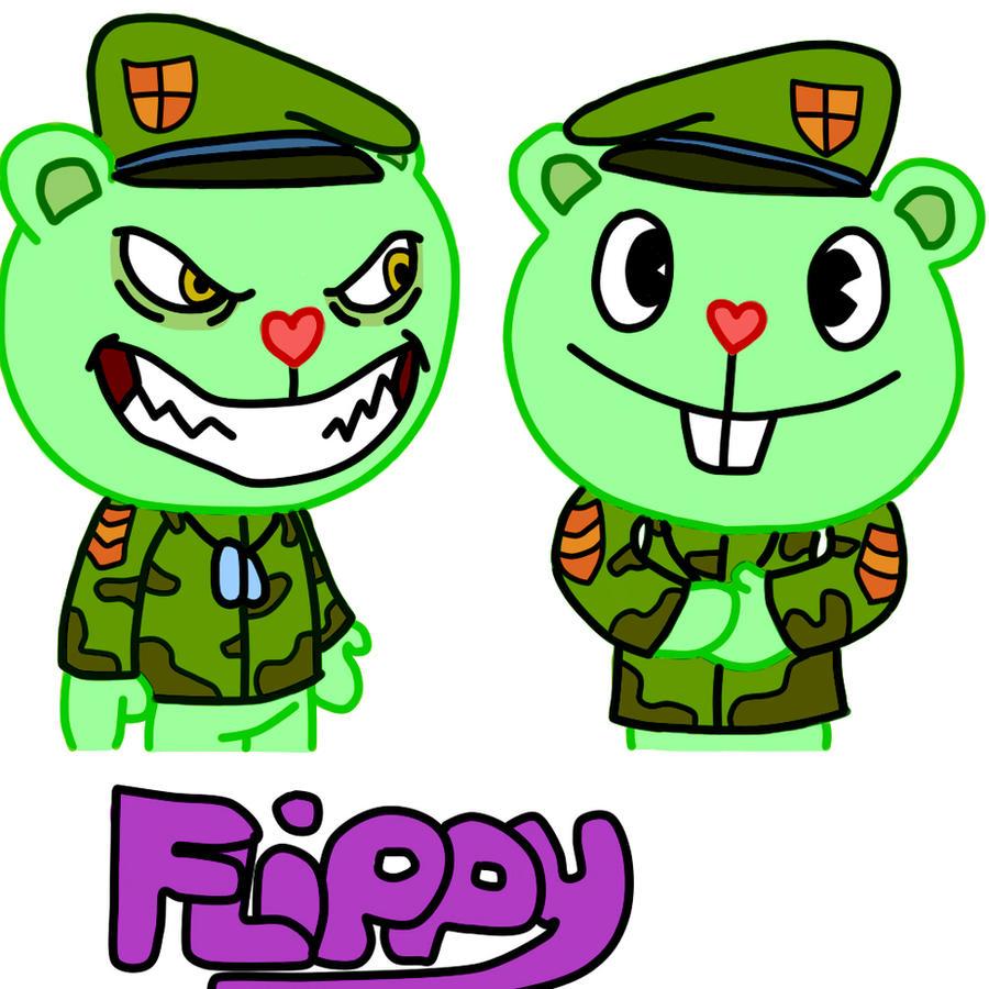 HTF: Evil Flippy + Good Flippy by TF2Fan887 on DeviantArt