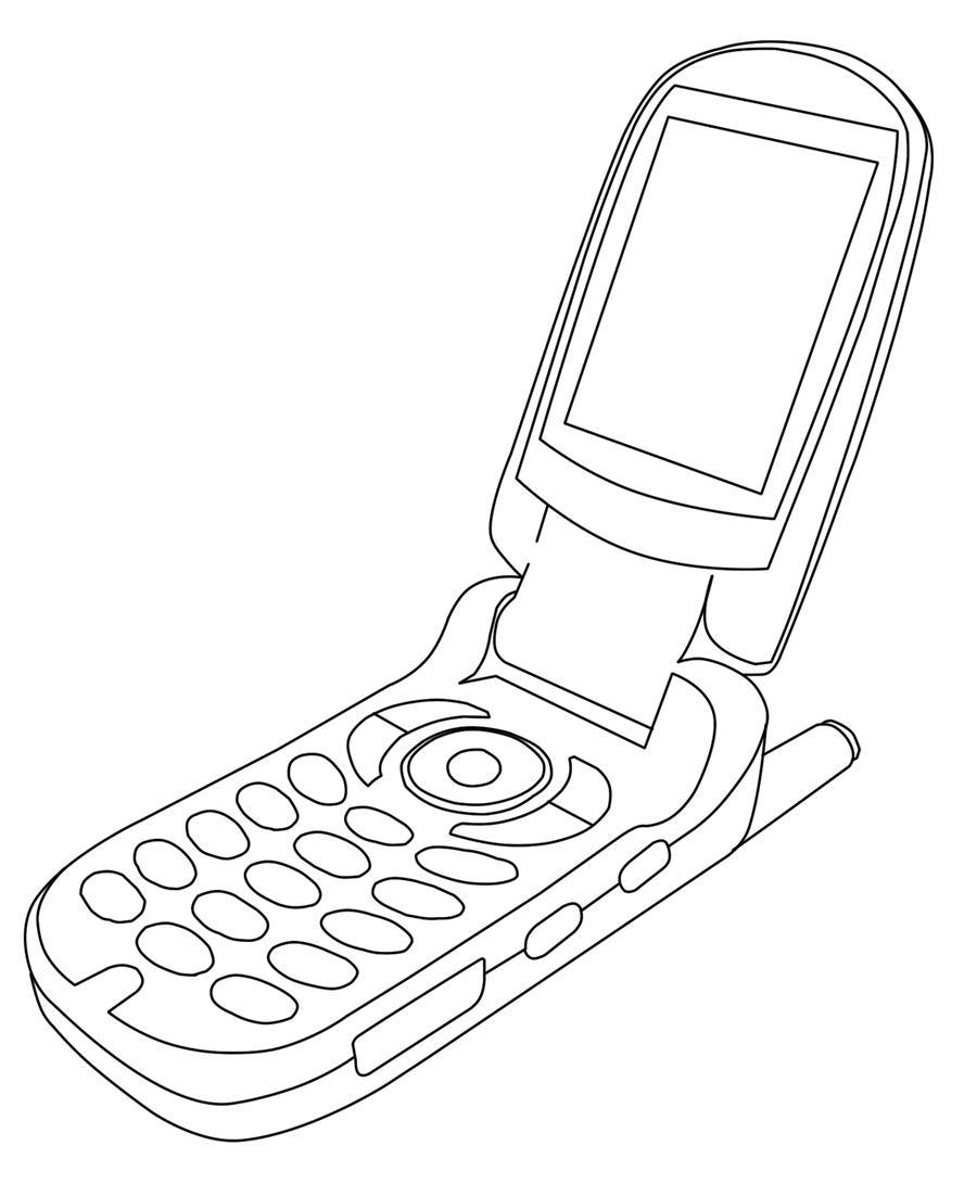 Line Drawing Keyboard : Cellphone lineart by clarkcinogen on deviantart