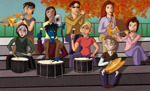 X-men Pep Band by musicsuperspaz