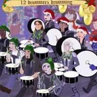 x-men: 12 Drummers Drumming by musicsuperspaz