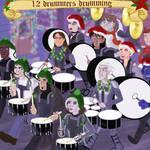 x-men: 12 Drummers Drumming