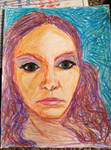 self portriat in crayon