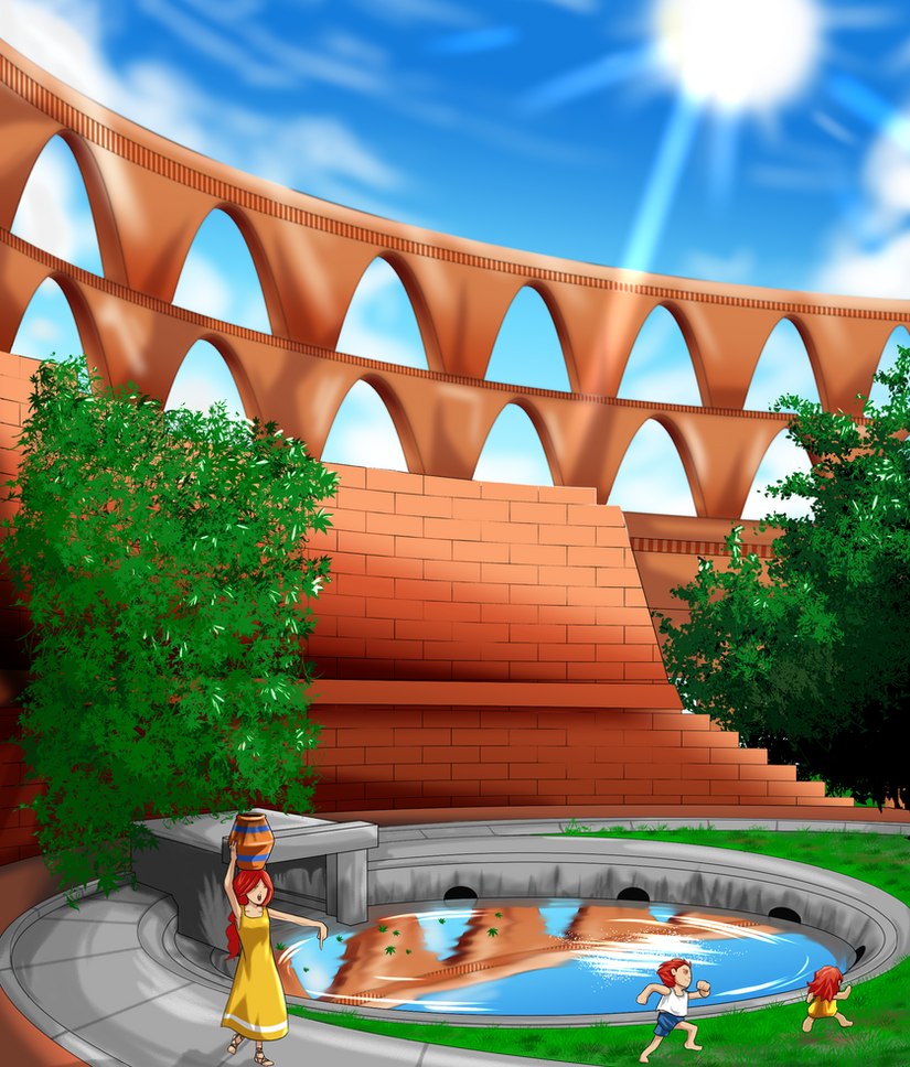 Adventurers - Aqueduct by FieryJinx