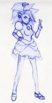 Princess Sonic Sketch by FieryJinx