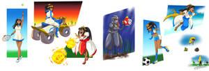 COMMISSION: Desert Princess Costumes by FieryJinx