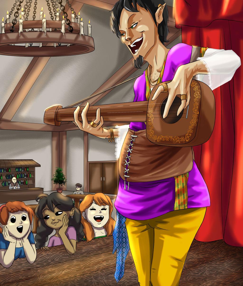 Adventurers - Wandering Bard by FieryJinx