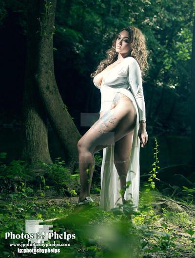 Kay in a white dress by djwarchild76