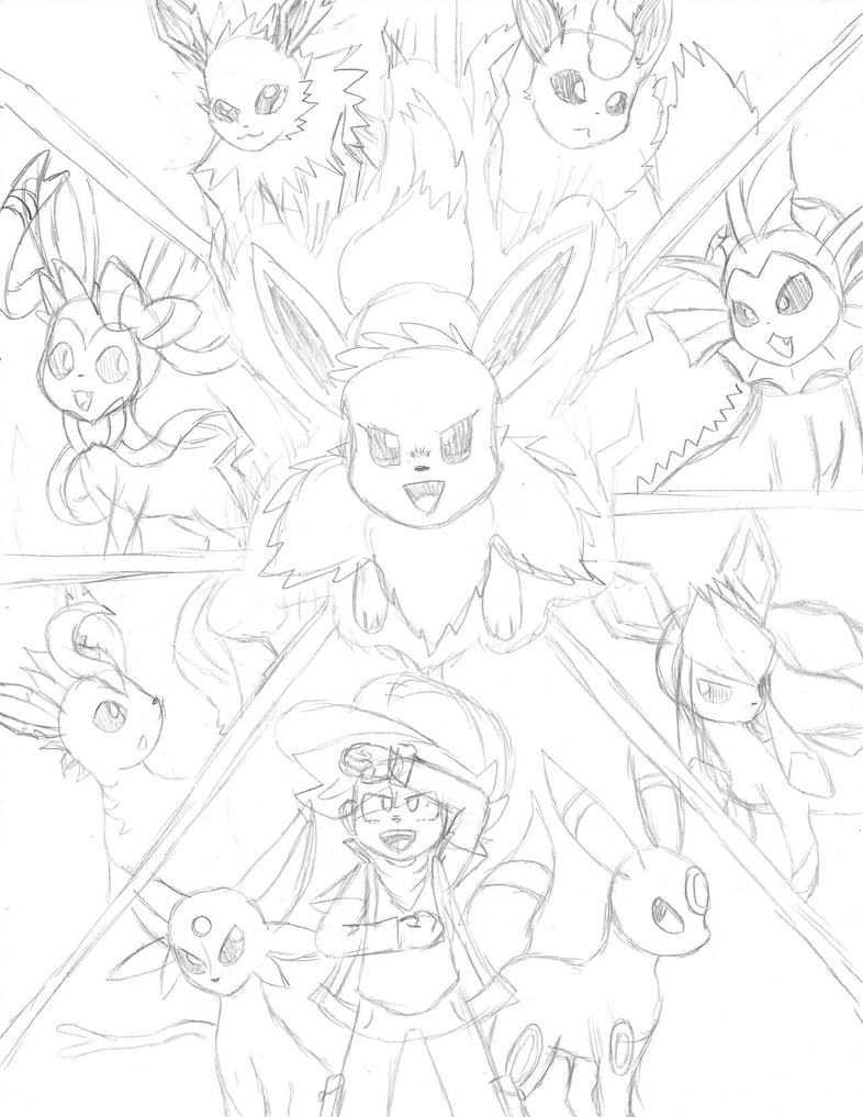 eevees new z move  by Bros-Productions