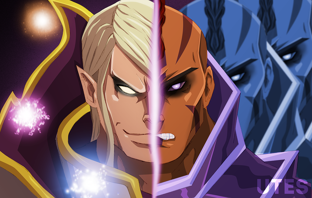 Invoker vs Anti-Mage by tellmymotherimsorry on DeviantArt