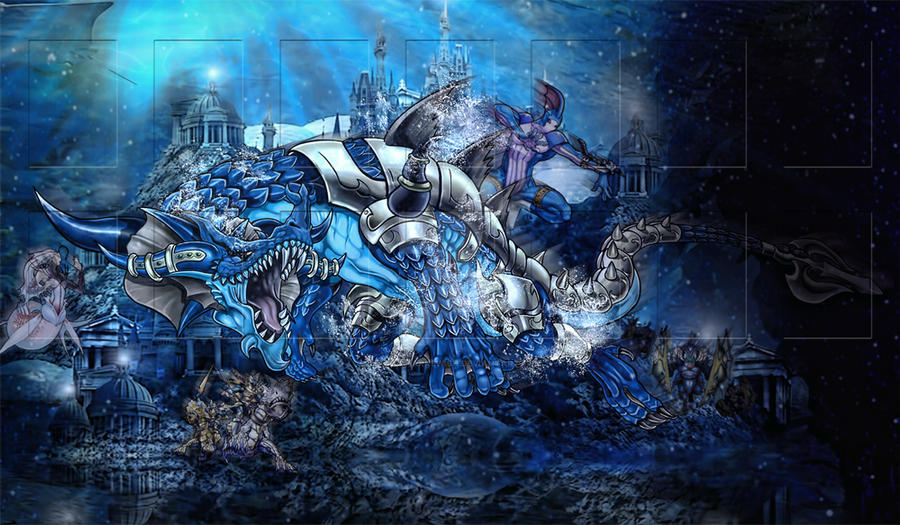 Custom Yu Gi Oh Atlantean Playmat By Youngsharkswish On