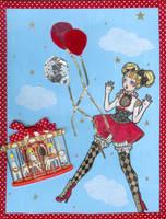 angryazngirl christmas card by DarkDevi