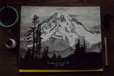 Mount Rainier by DarkDevi