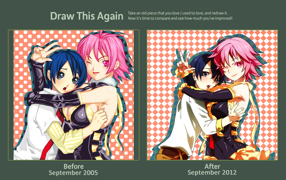 DrawThisAgain: Yuno and Mifuyu by sage666