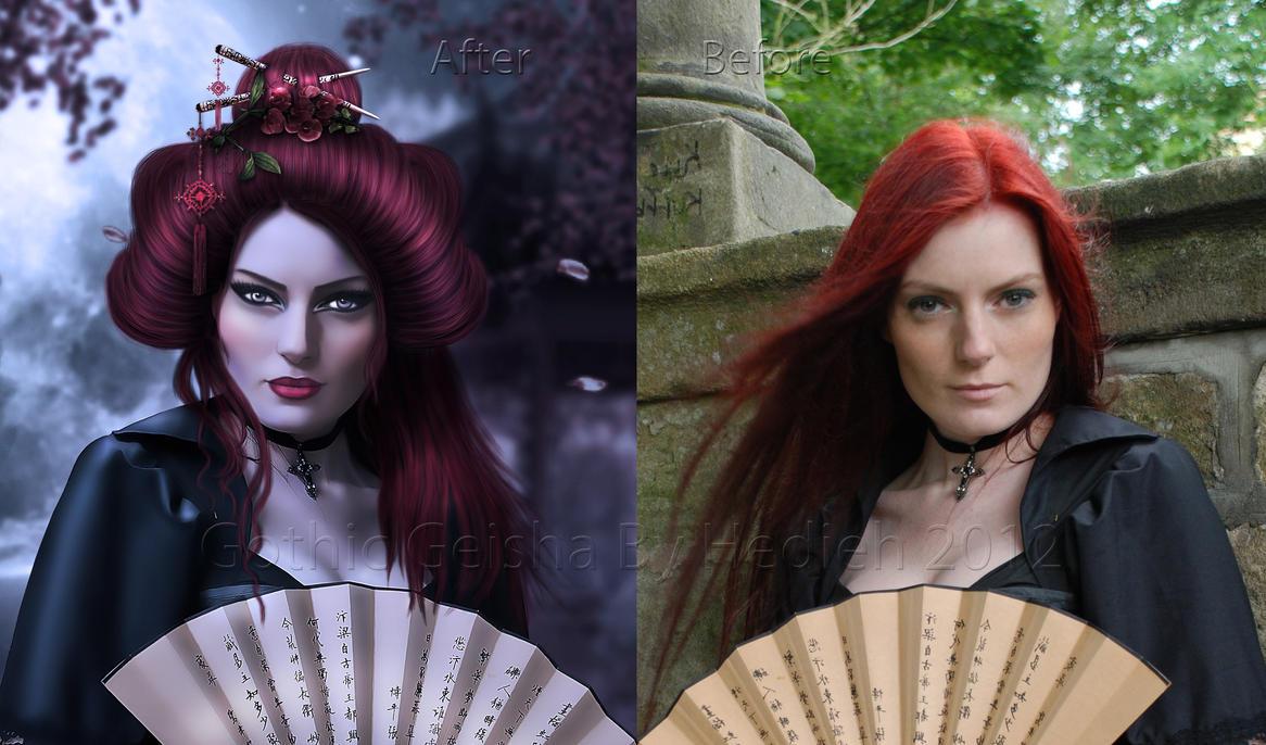 Gothic Geisha ... by shiny-shadows-Art