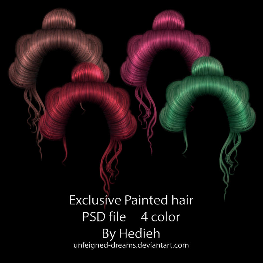 Painted Hair by shiny-shadows-Art
