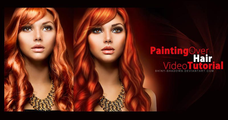 Painting over hair