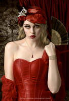 Woman In Red by shiny-shadows-Art