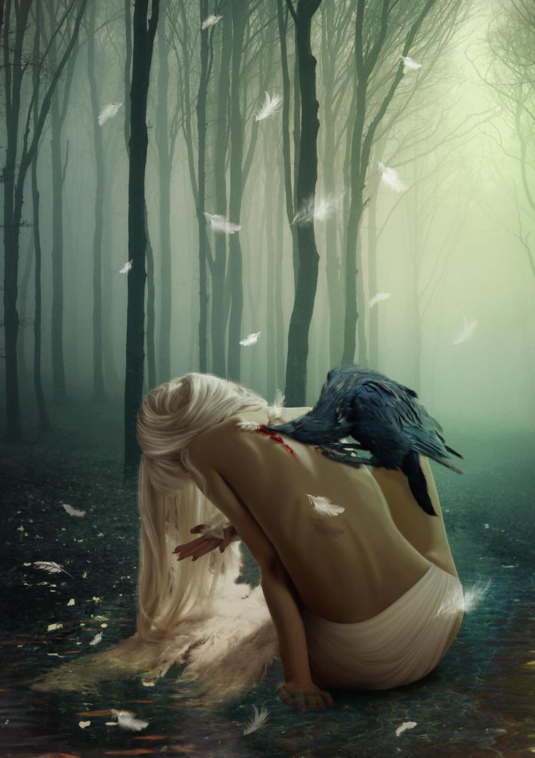 Broken Angel by shiny-shadows-Art