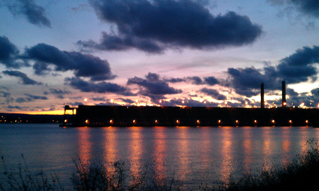 Sunset over the old Ore Dock by Ditie