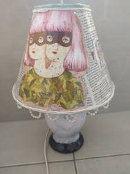 Painted and Decoupaged lamp