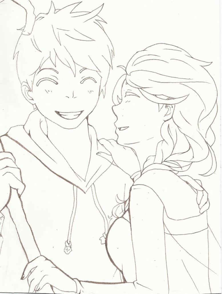 Adult Cute Jack Frost Coloring Pages Gallery Images beauty elsa and jack frost coloring pages now by carlyfma deviantart more like images