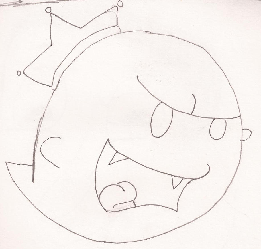 Pin paper mario coloring pages super tattoo pictures on for King boo coloring pages