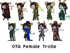 OTA Female Trolls [Closed] by SuzusAdopts
