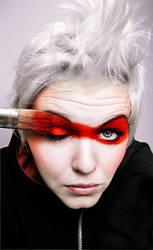 red make up by Basistka