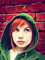 Green hood by Basistka
