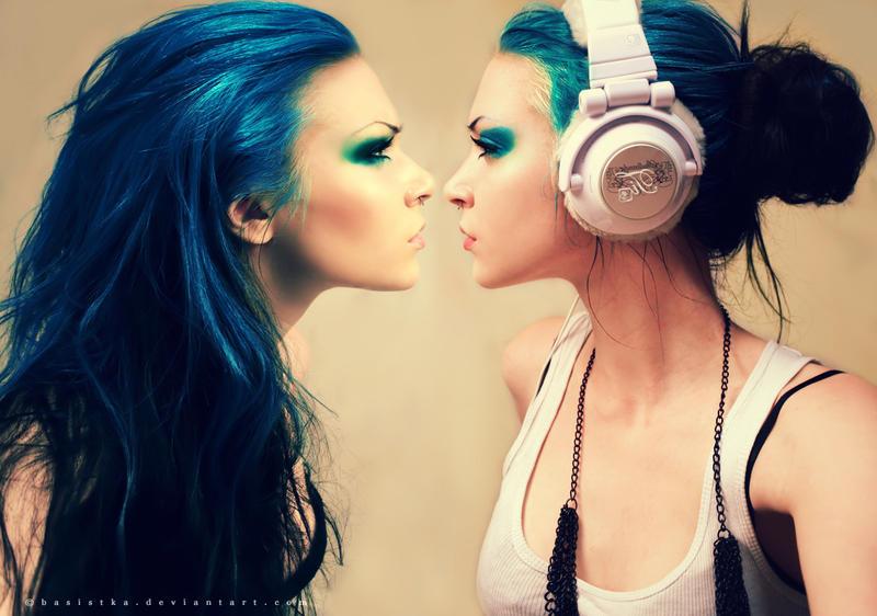 Blue Twins by Basistka