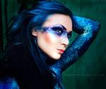 Blue snake by Basistka
