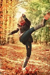 Let's kicks some leaves