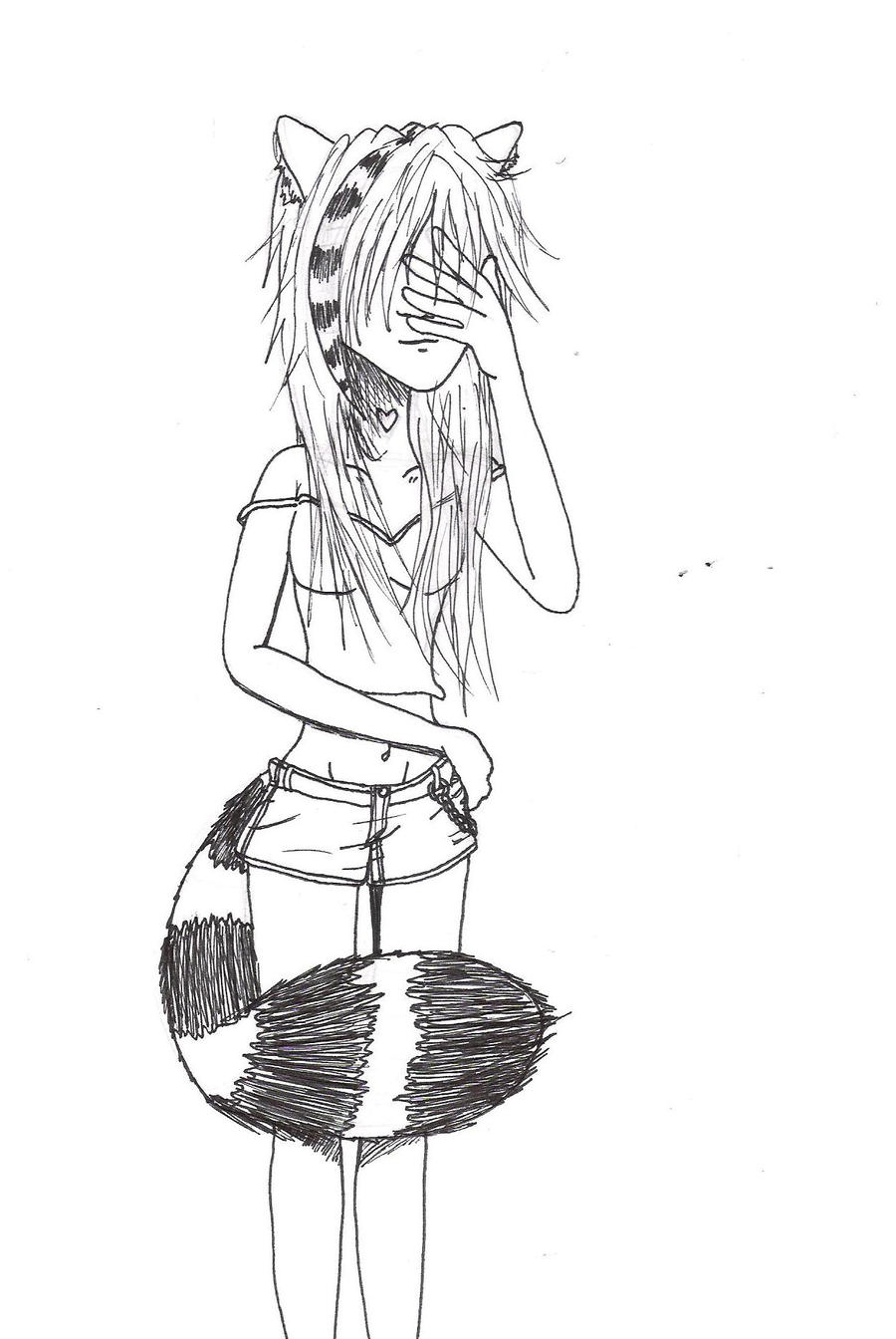 Kat Request Sketch by BakaShinagami