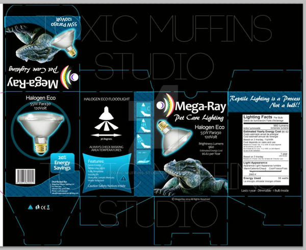 Box design for Mega Ray Petcare Lighting by Toxic-Muffins-Studio